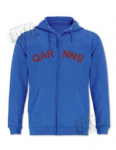 Single colour hoody - zippered QARNNS